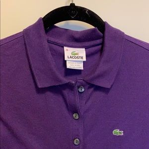 Lacoste Tops - Royal Purple Lacoste Polo